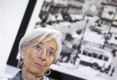 Η Κριστίν Λαγκάρντ υπογράμμισε ως «κεντρική» τη σημασία του ασφαλιστικού   (Φωτογραφία:  Reuters )