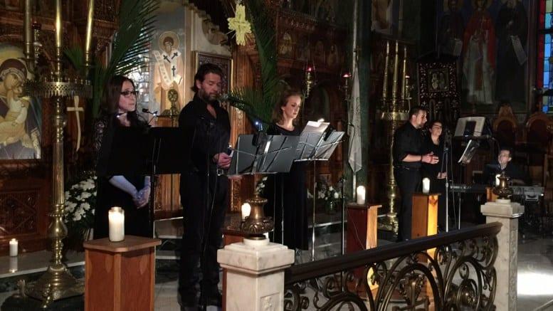 Από αριστερά: Μάρθα Τομπουλίδου, Χρήστος Γόδας, Θεοδώρα Παπαχριστοφίλου-Λούκας, Δημήτρης Μιχαήλ, Μακαρία Ψιλιτέλη-Καζάκου, Γλαύκος Κοντεμενιώτης. Φωτογραφία ΝΙΚΟΣ ΣΤΑΜΑΤΑΚΗΣ